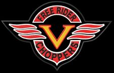 V Free Choppers Rider XL Parche bordado Thermo-Adhesiv iron-on patch