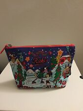 Cosmetic Pouch Bag With Kiehl's Logo On It