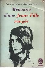 SIMONE DE BEAUVOIR MEMOIRE D'UNE JEUNE FILLE RANGEE + PARIS POSTER GUIDE