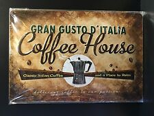 Coffee House Gran Gusto D'Italia Wall Decor Embossed Sign 20x30 Cm