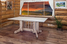Rustic Log Dining Tables Amish Handmade Cabin Lodge Rustic Kitchen Table