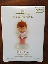 HALLMARK 2009 MARY'S ANGELS CHINA ROSE  # 22 IN SERIES