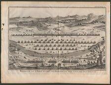FIUME ADDA. Acquaforte da Storia Romana di Polibio,1730