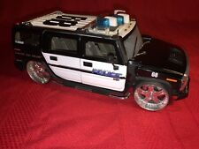 JADA DUB CITY HUMMER H2 Police Scale 1/24 2003 Black/White - No Box - Rare!