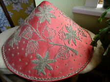 VINTAGE CHINESE RICE FIELD HAT FLOWER AND LEAF DECORATED theatre prop