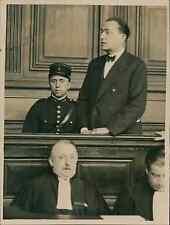 Paris, le banquier Charles Pelissier et son défenseur Maître De Moro-Giafferi au