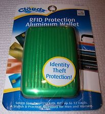 Cloudz RFID Protection Aluminum Wallet GREEN/BLACK ~ NWT