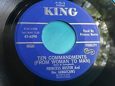 Rare Ska Reggae 45 : Princess Buster And Her Jamaicans ~ Ten Commandments ~ King