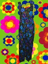 201✪ Hippie Blumen Kostüm Jumpsuit Overall HosenAnzug Woodstock 70er Jahre Gr M