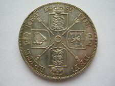 1889 Victoria Jubilee Head Double Florin GVF dipped/cleaned