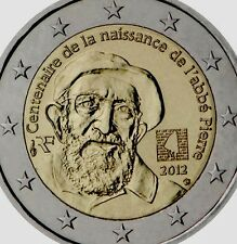 France 2 Euro Coin 2012 Commemorative Abe Pierre New BUNC from Roll