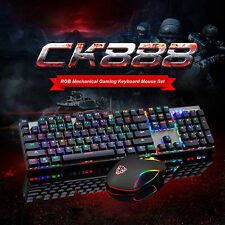 Bunte Beleuchtet Multimedia Gaming USB Tastatur und Gaming Maus 2400 DPI Set