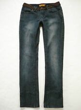 LUXIRIE by LRG Size 27 (5) Slim Leg Straight Dark Wash Womens Jeans Stretch Low