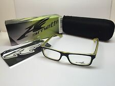 NIB Arnette Lo-Fi Black/Yellow/Clear Frames 7060-0747 Eyeglasses 47/16/130 Case