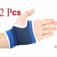 2 Pcs Wrist Hand Brace Palm Elastic Support Carpal Tunnel Tendonitis Pain Relief