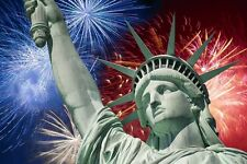 Fireworks / 4th of July - Statue of Liberty -  Edible Image Cake Frosting Sheet