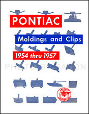 Pontiac Chrome Body Molding Parts Book 1954-1956 1957 Moulding Trim Emblems