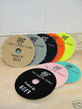 "4"" inch 100mm THK Diamond DRY polishing pads pad disc marble granite Standard AA"
