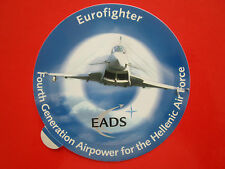 AUTOCOLLANT STICKER AUFKLEBER EADS EUROFIGHTER HAI HELLENIC AIR FORCE