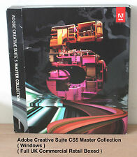 Adobe Creative Suite 5 MASTER COLLECTION cs5 (Windows) - BOX COMPLETO Autentico UK