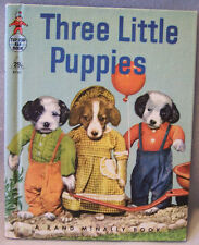 Three Little Puppies ~ by Ruth Dixon ~ Vintage Rand McNally Elf book ~ Real Live