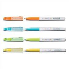 Pilot Frixion Color Fasermaler Set orange, hellblau, hellgrün, gelb