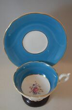 COALPORT BONE CHINA TEA CUP & SAUCER BLUE ROSE TEACUP A.D. 1750