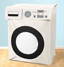 WHITE NOVELTY WASHING MACHINE LARGE LAUNDRY BIN BASKET HAMPER BAG LAUNDRY TIDY S