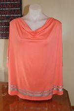 *AUTOGRAPH* BNWT Pink Coral Batwing/Poncho Blouse/Top Plus Size 22 RRP $40
