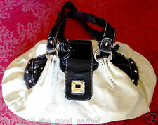 Womens CELLINI Sport Fashion Shoulder HANDBAG White with Black - Used Condition