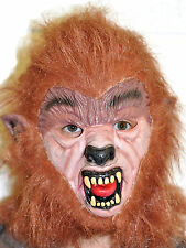Brown Werewolf Mask Latex Teenwolf Wolf Halloween Fancy Dress Horror Costume Dog