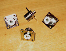 20 NEW SO239 FEMAIL A CHASSIE SOCKET'S  NEW FOR RF HAM RADIO USE 4 HOLE FIXING