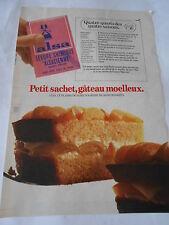 PUBLICITE 1981  Alsa petit sachet gâteau moelleux quatre quart