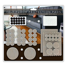 244 Heavy-Duty Premium Durable Self-Stick Felt Furniture Floor Pad Protectors
