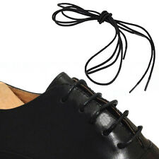 Round Cord Waxed Shoelaces Oxford Dress Canvas Sneaker Shoe Lace Unisex Strings