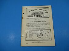 1940's Diesel Training National Schools Lesson #62 DC Generator Regulation M972