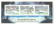 Cocos(Keeling)Islands-Air-Sea Rescue-Lifeboats-Aviation min sheet mnh292