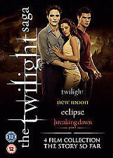 TWILIGHT QUADRILOGY DVD Collection Part 1 2 3 4 Film Movie Robert Patttinson New