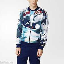 Adidas SHOE CHAOS AOP Track sweat shirt Jacket superstar top firebird~Men sz Lrg