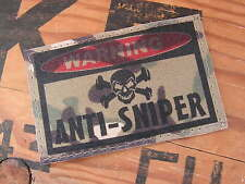 Patch velcro ..:: WARNING ANTI-SNIPER ::.. AIRSOFT PAINTBALL US MULTICAM