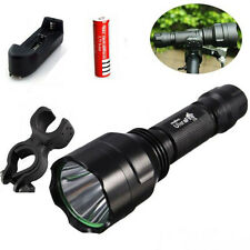Ultrafire 2600LM C8 Tactical Flashlight CREE XML T6 LED Torch Light with Bracket