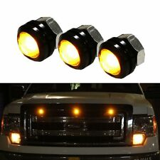 3 x Ford SVT Raptor Style LED Amber Grille Lighting Kit, Universal Fit Truck SUV
