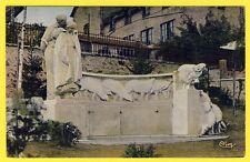 cpa RARE 19 - NEUVIC (Corrèze) FONTAINE du BERGER du Sculpteur Henri PROSZYNSKI