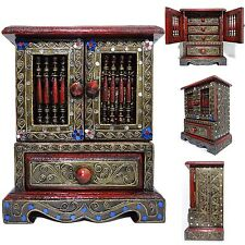 Thailand Charming Secret Jewelry Wooden Cupboard Chest Box Storage Armoire Wood