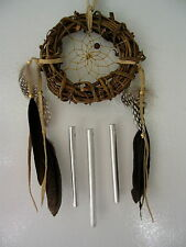 NEW FIRST NATIONS TWIG DREAMCATCHER WIND CHIMES  COLLECTIBLE SPIRIT CHIME 3""