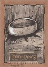 "Lord of the Rings Masterpieces II - Cythia Cummens ""The One Ring"" Sketch Card"