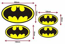 Batman Logo Decals (X4),for home, vehicle, phone, PCs, or any smooth surface
