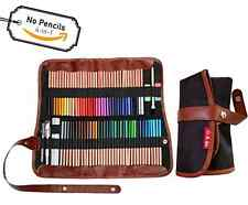 72 Colored Pencil Case Leather Storage Art Drawing Supplies Holder Painting Kit