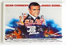 Never Say Never Again FRIDGE MAGNET (2 x 3 inches) quad movie poster james bond