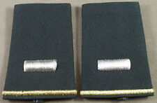 US Army Shoulder Marks / Epaulets / 1st Lieutenant / Small Size ( Green )